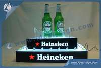 LED Beer bottle rack for displaying and promoting