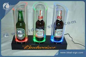 Budweiser RGB Color Changing LED Acrylic Bottle Display