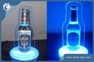 Customized Laser Logo Gravé LED Acrylique Liquor Bottle Glorifier