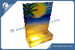 Großhandel Hawaii-Art-Acryl-LED Light Up Bottle Anzeige