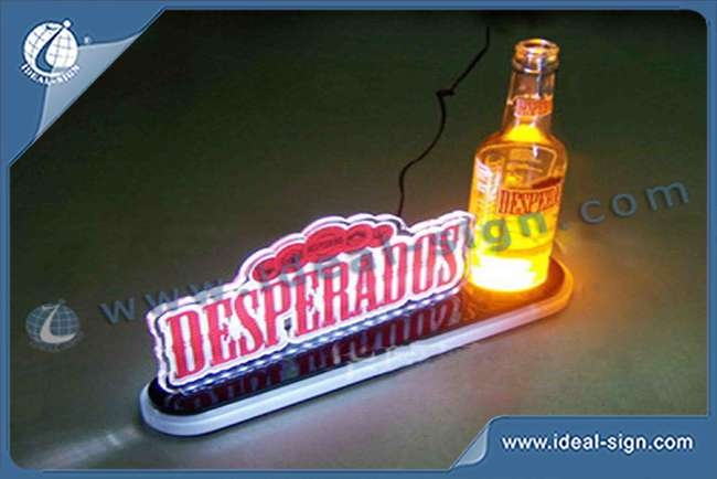 Wholesale Custom Illuminated Beer Bottle Display Lighted Liquor