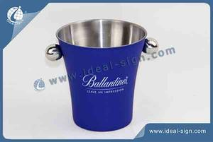 Stainless Steel Blue Ice Bucket For Bar Advertisement
