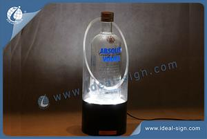 Custom vodka bottle light display acrylic liquor bottle glorifier distributor