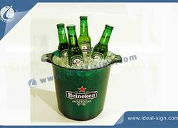 3L / 4.5 L Acrylic Ice Bucket with 12 LED Lights 7 Colors for Party