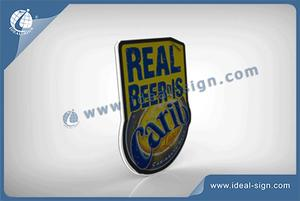 Customized Carib Beer Marque LED Slim Light Signs Avec Motions Pour Promotion