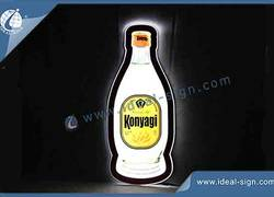 Bottle Shape Ultra slim indoor Led Illuminated Sign 60*27*1CM