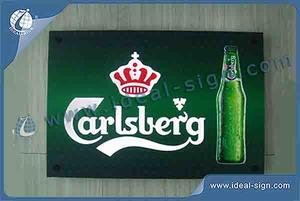 Customized Carlsberg Slim LED Sign 18 '' * 12 '' Illumination Signes Extérieurs