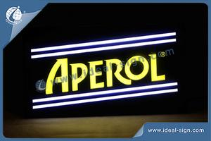 Aperol Neon Effect Indoor LED Sign Com Vacuum Forming Técnico Para Brand Promotion