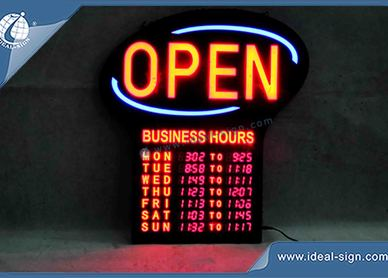 business signs indoor