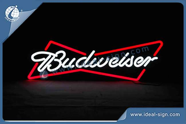 Wholesale neon light signs led neon sign custom made Budweiser beer