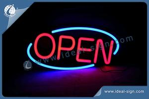 ABS Gros Encadrée Open Sign LED Faux Signes Neon