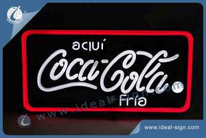 Rectangle Frame Coca Cola LED Advertising Signs With Vacuum Forming