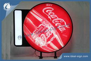 Vacuum Custom Sign Formé Coca Cola LED Sign CMJN Silk Printing