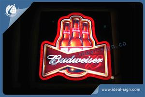 Registe Budweiser Beer Neon Bar Luz Neon Sign Poder Fontes De LED
