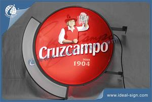 Kundenspezifische Vakuumform Sign Led Cruzcampo Vaccuumformen Light Box CYMK Silk Drucken