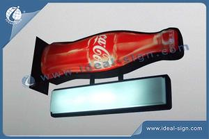 Popular Vacuum Coca Cola Outdoor Formant Light Box