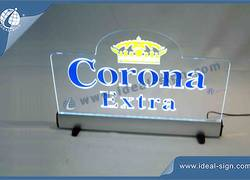 Corona Extra Acrílico LED Sign Mostrar / Magro Led Light Box Entrar