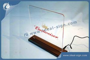 Budweiser LED Acrylic Sign On Table For Displaying H27*29*5 CM