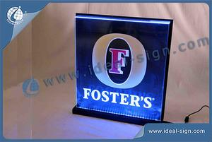 LED Edge-Allumé Signe / Acrylique Light Box Affichage Foster