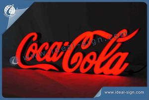 CocaCola Indoor Words Letter LED Resin Sign For Club Advertising