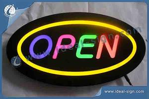 Open Sign LED Letter Resin Sign / Custom Led Signs 40x25X4CM