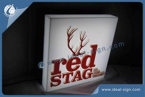 Light Box RED STAG Acrylique LED Pour Bar Promotion