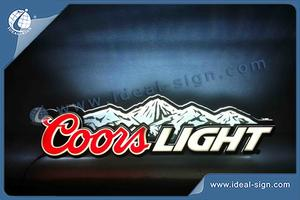 Coors Light Signs Acryl LED-Innen-Neonzeichen