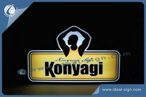Konyagi Blister Indoor LED Display Acrylic Light Signs For Promotional Use