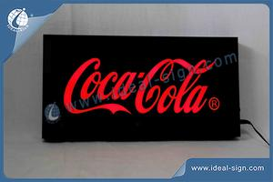 Coca Cola Indoor Acrylic Case LED-Harz-Zeichen