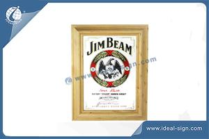 Personalized JIM BEAM Mirror Bar à Vendre