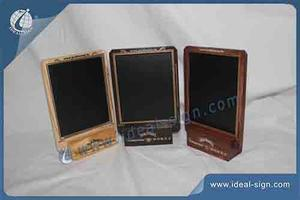 Wholesale custom pine wood menu holders for tables bar menu chalkboard in American style