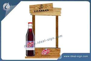 Customized Bois Table Stand Holder Menu Style Rétro