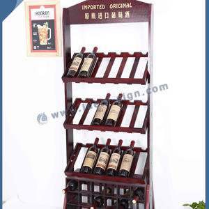 Customized MDF pine wooden wine or beverage bottle storage boxes and racks