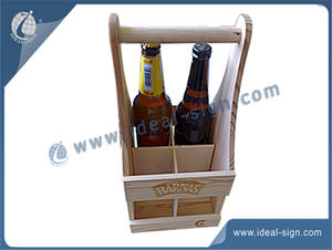 Hand-held 4 Bottle Wooden Wine Box OEM/ODM