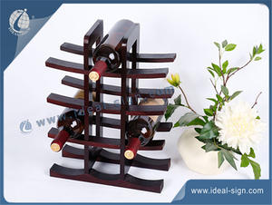 Bois Wine Holder Pine MDF Display