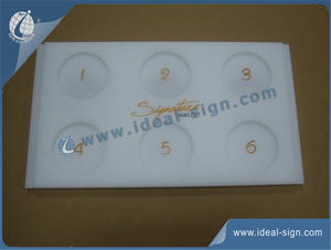 Custom Acrylic Tray For Shot Glasses For Bar Use 320*180*15mm