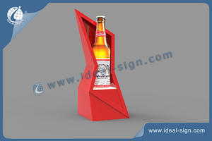 Budweiser Beer Fashion Irregular LED Bottle Display