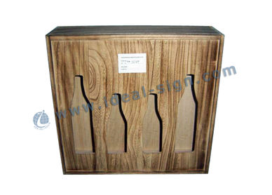 wood wine packing box