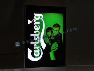 Bar Carlsberg Sign Led Slim Light Box Display