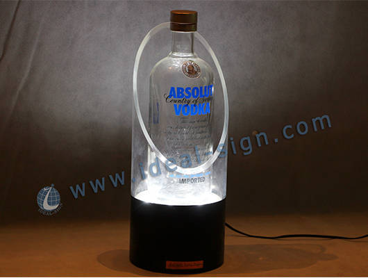 acrylic bottle display