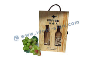 Évidé Pine Wine Wooden Packaging Gift Box
