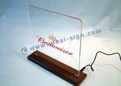 acrylic led edge welcome sign