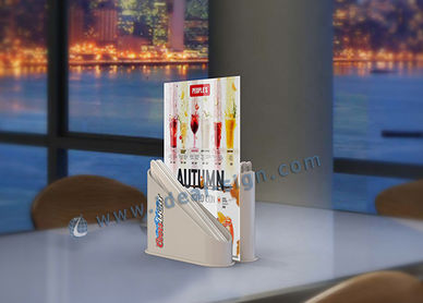 Custom Wholesale Plastic And Wooden Table Top Menu Holder