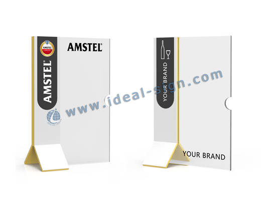 support de menu acrylique