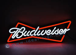 Budweiser Beer PVC LED Optical Neon Signs Circuit Board and Frame ABS moldado por injeção