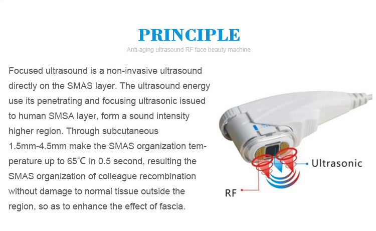 RF face beauty machine principle