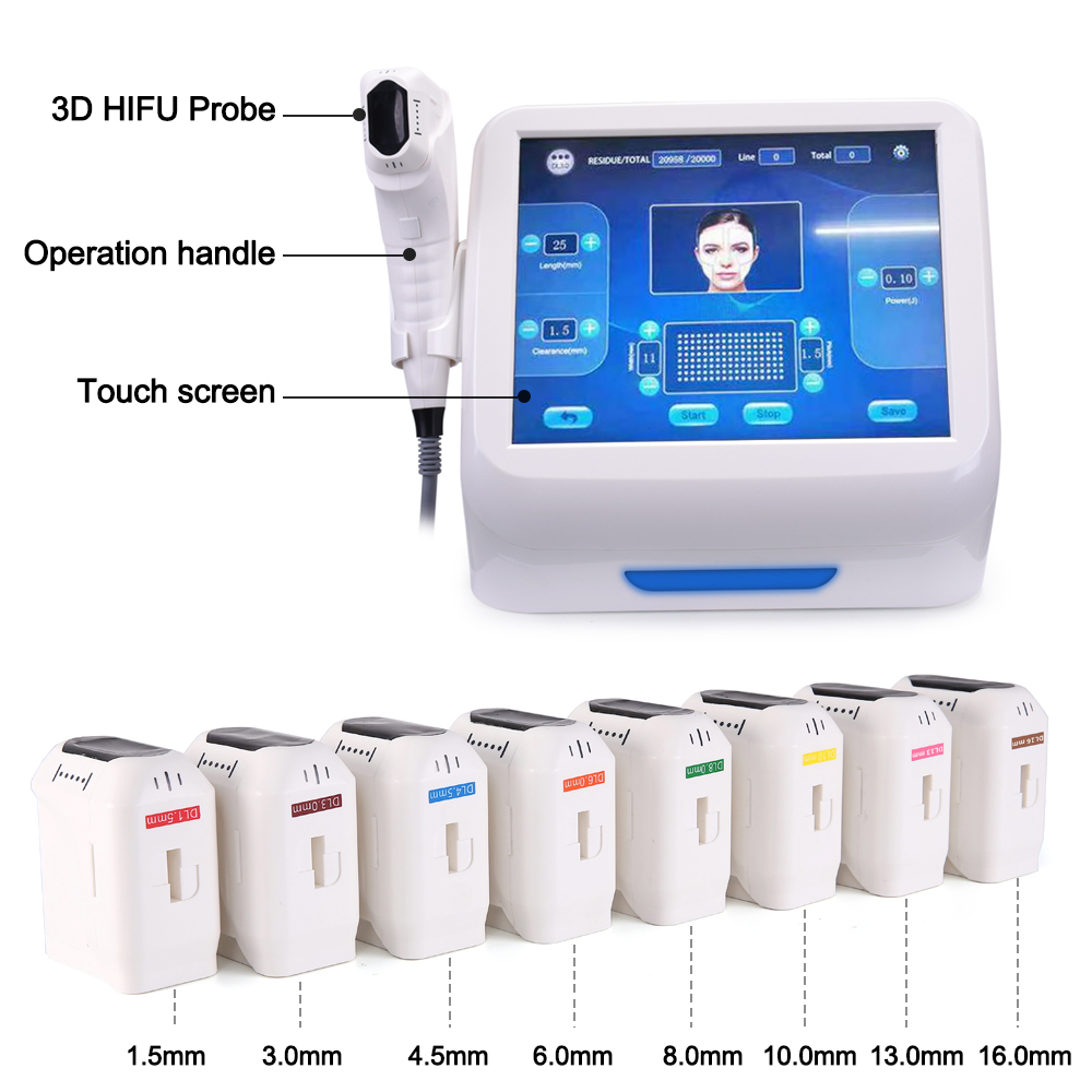 3D Hifu beauty machine for Face Lifting and Body Shaping strcutures