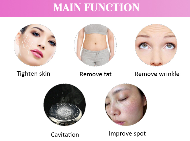 Cavitation ultrasound HIFU Slimming Machine  functions