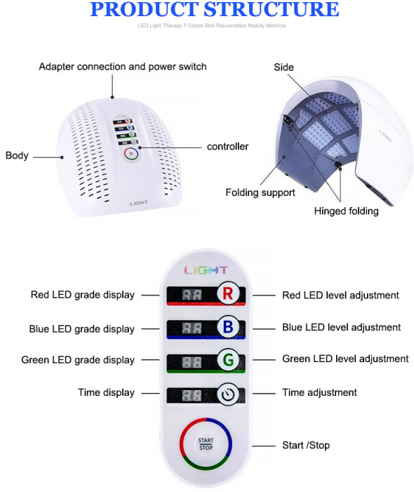 Foldable Led Light Therapy Machine structure