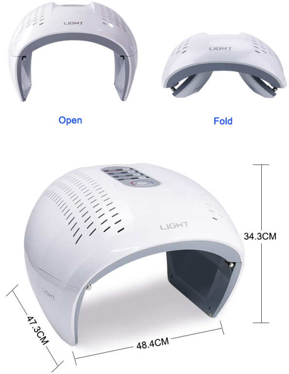 Foldable Led Light Therapy Machine size
